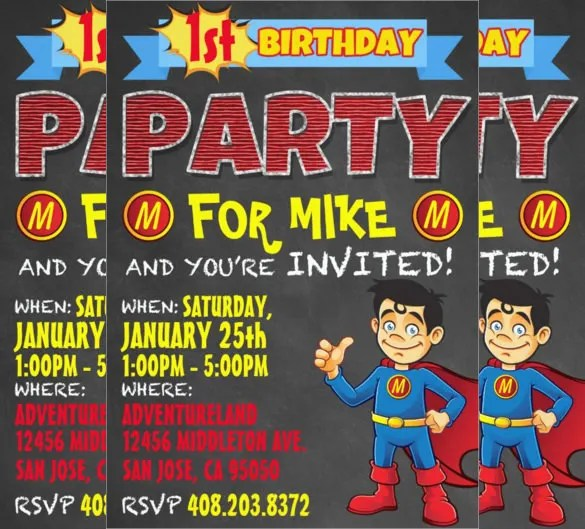 Toddler Party Invitations