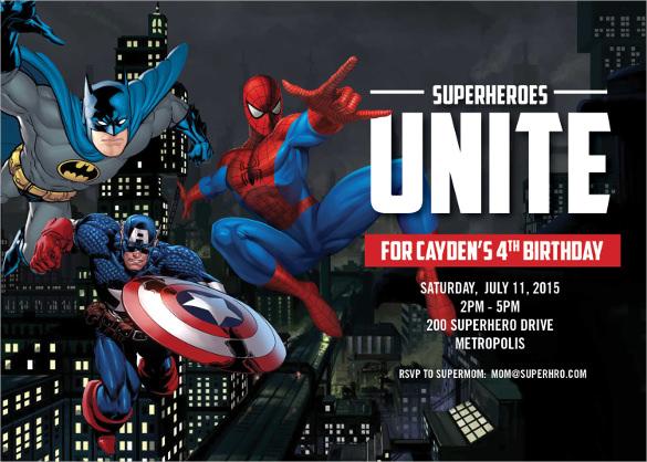 34 Superhero Birthday Invitation Templates Free Sample