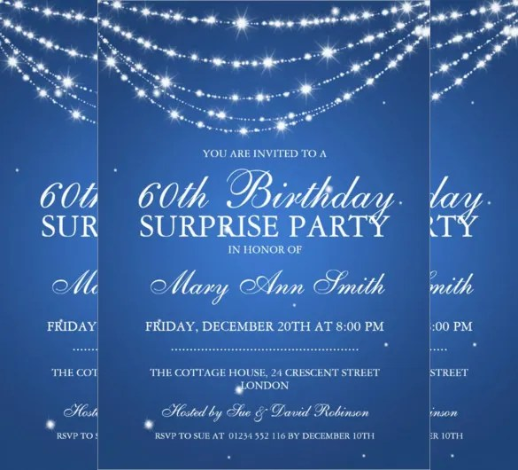 26 Surprise Birthday Invitation Templates – Free Sample