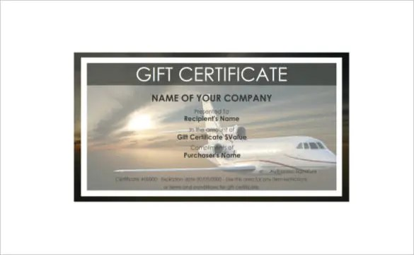 9+ Travel Gift Certificate Templates