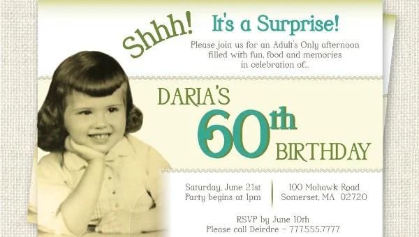 26 60th Birthday Invitation Templates – PSD AI Free