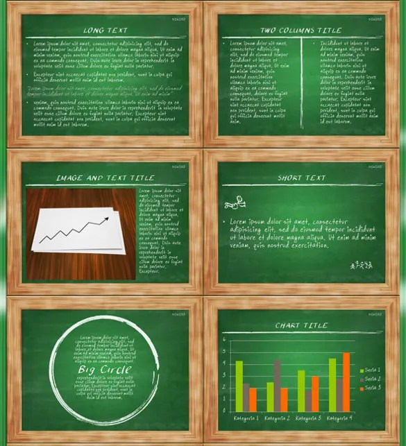 9 Chalkboard Powerpoint Templates Free Sample Example