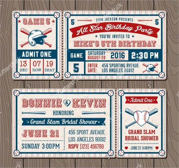 22 baseball birthday invitation