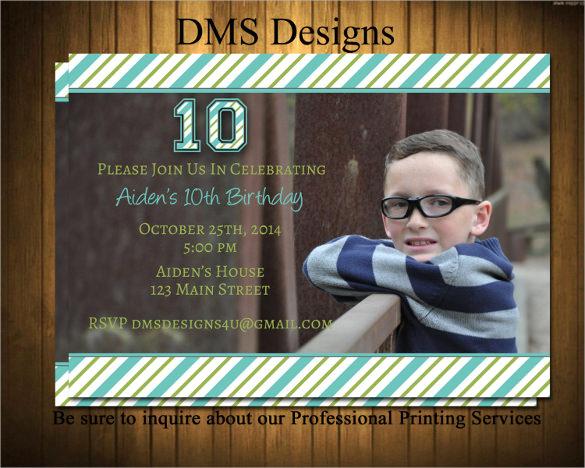 boys birthday party invitation templates