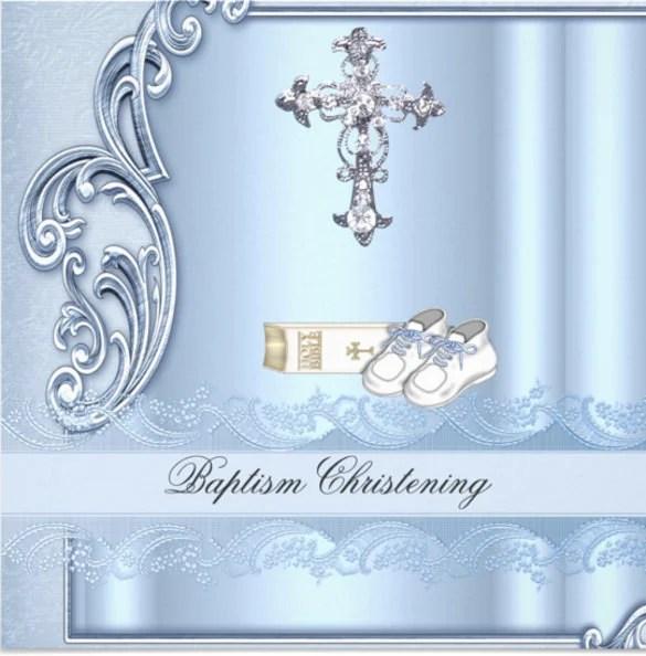Picture Christening Invitation