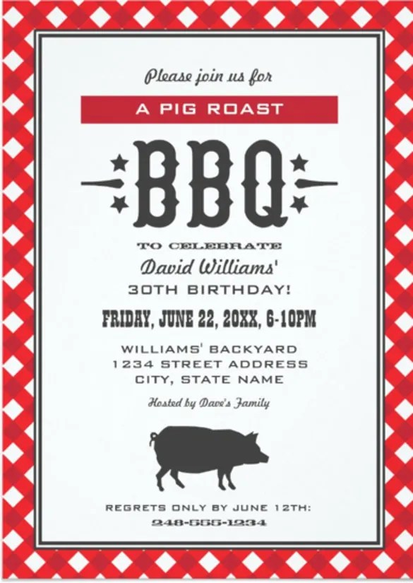 braai invitation cards paperinvite. Black Bedroom Furniture Sets. Home Design Ideas