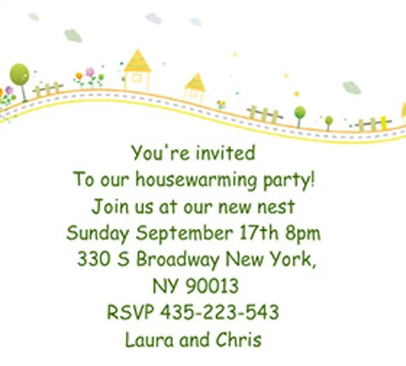New House Invitation Cards Sample | Paperinvite