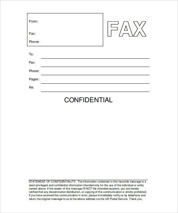 Printable Fax Templates