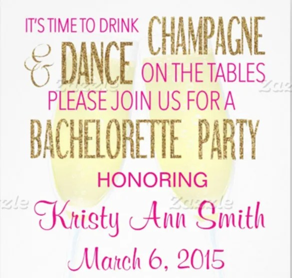 32 bachelorette invitation templates