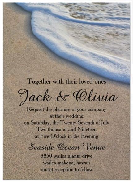 Casual Beach Wedding Invitation Template