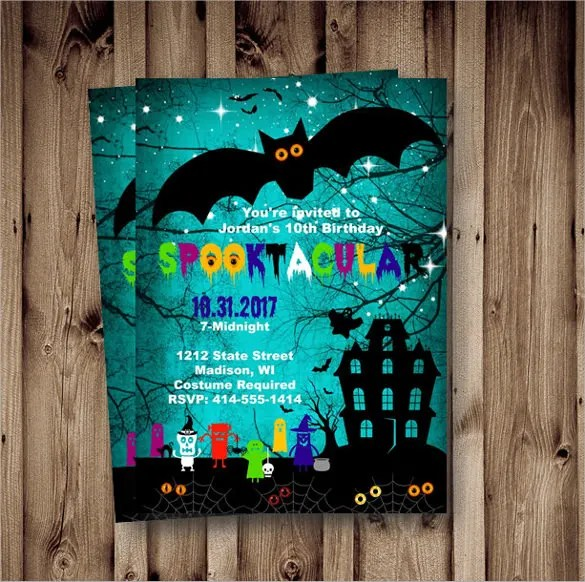 19 Halloween Birthday Invitations – PSD Vector EPS AI