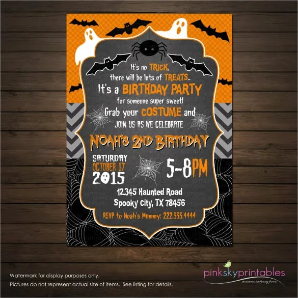 19 Halloween Birthday Invitations – PSD Vector EPS AI