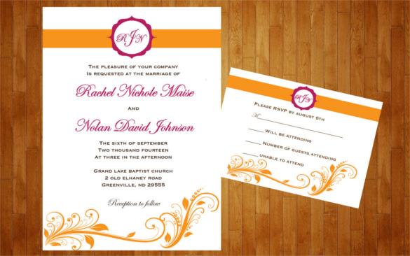 26 Fall Wedding Invitation Templates  Free Sample Example Format Download  Free  Premium