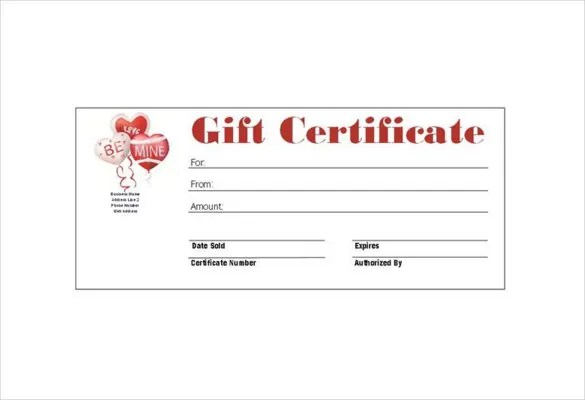6 Homemade Gift Certificate Templates DOC PDF Free