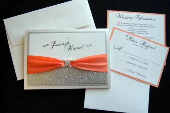 15 Pocket Wedding Invitation Templates  Free Sample Example Format Download  Free  Premium