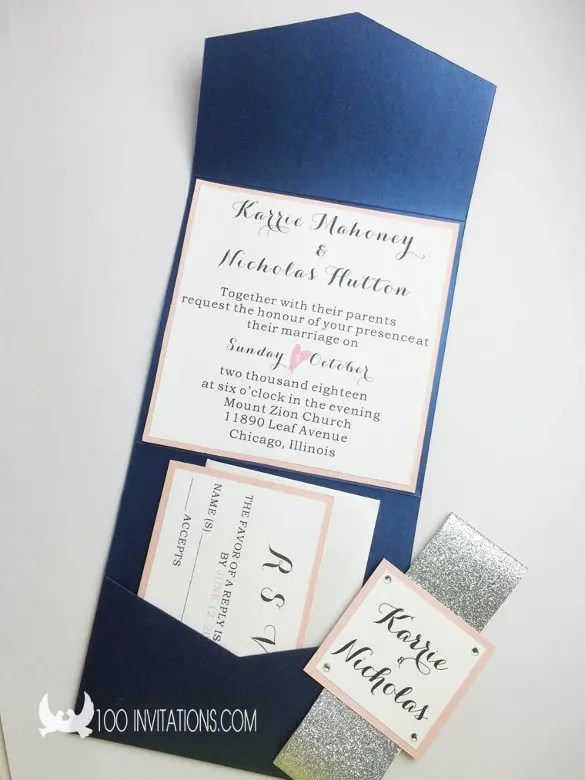 15 Pocket Wedding Invitation Templates Free Sample