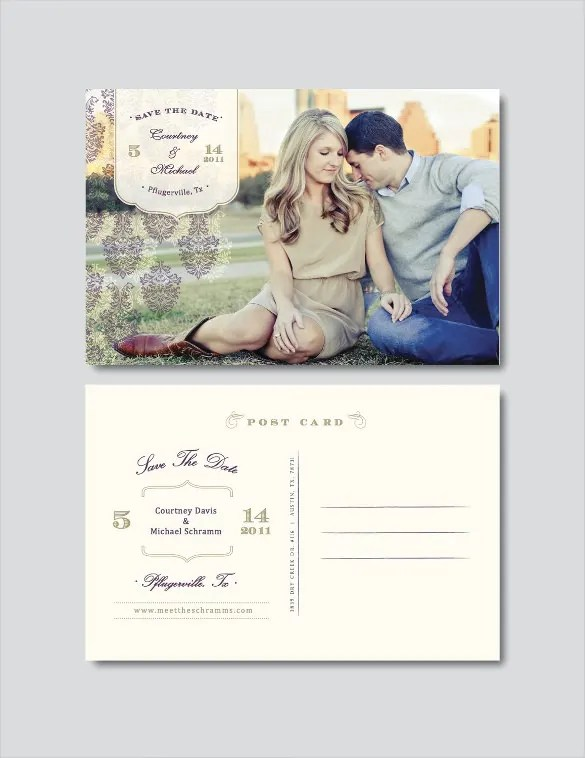 Postcard Wedding Invites With Nice Invitations Layout
