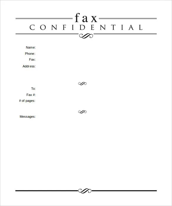 Professional Fax Cover Sheet Template Printable Fax Cover