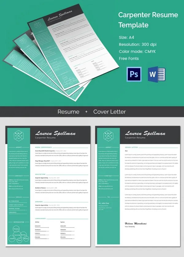 51 Creative Resume Templates  Free PSD EPS Format Download  Free  Premium Templates
