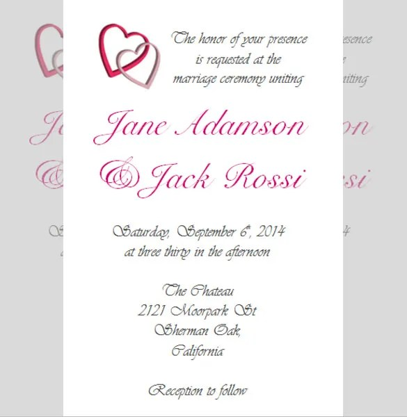 Simple Reception Invitation Free