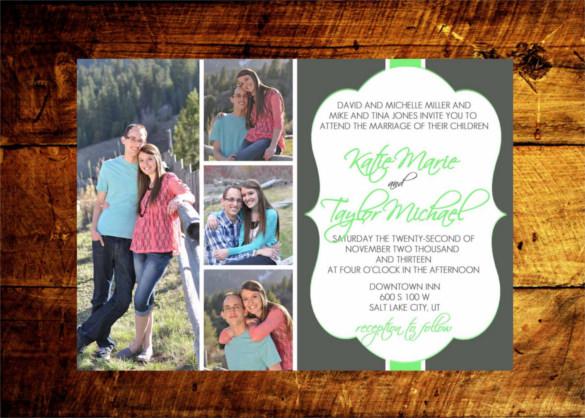 Wedding Invitation Postcard Printable