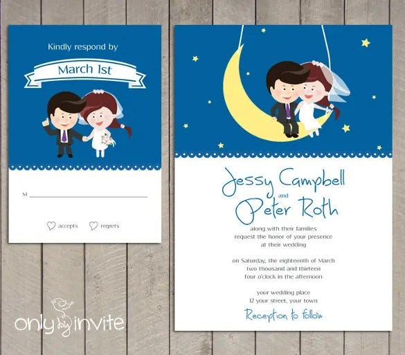 20 Funny Wedding Invitation Templates Free Sle Exle