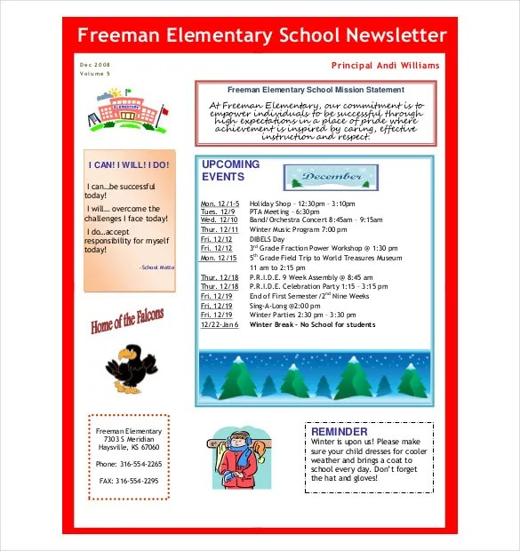 7 Preschool Newsletter Templates PDF DOC Free