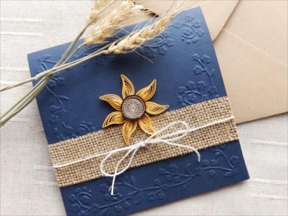 21 Handmade Wedding Invitation Templates – Free Sample