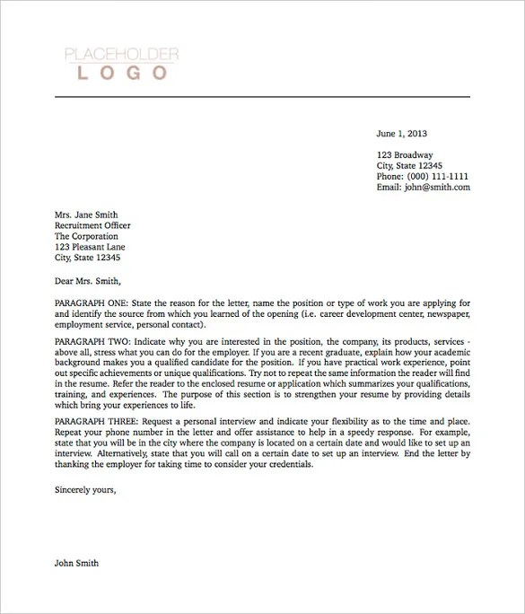 5 Latex Cover Letter Templates  Free Sample Example