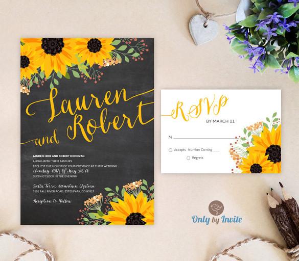 Wedding Invitations Sunflowers