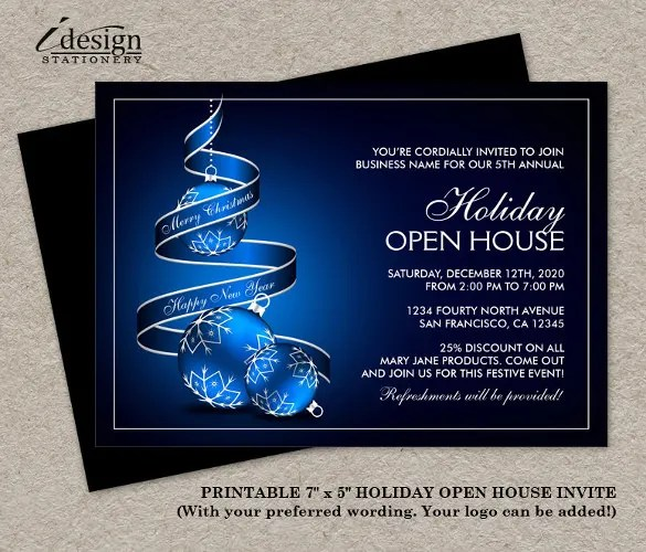 22 Open House Invitation Templates – Free Sample Example Format
