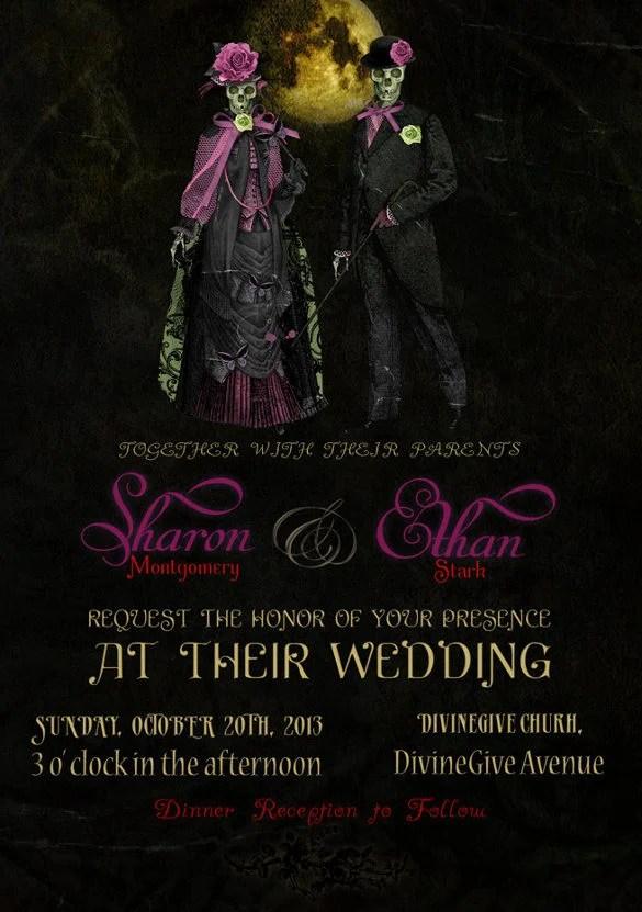 Romantic Couple Wedding Invitation