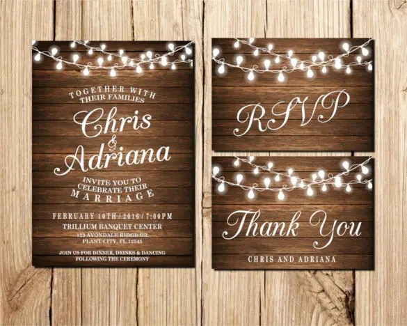 Country Wedding Invitation Templates
