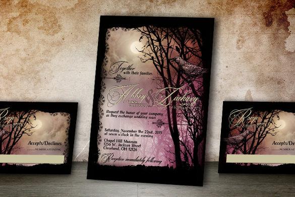 Halloween Wedding Invitation 19 PSD JPG Format Download Free Amp Premium Templates