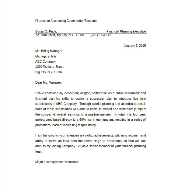 7 Employment Cover Letter Templates Free Sample Example Format Download Free Premium Templates