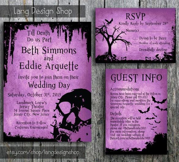 Halloween Wedding Invitation 19 PSD JPG Format Download  Free  Premium Templates
