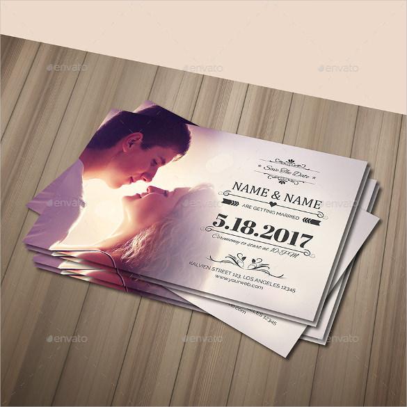 Wedding Postcard Template 21 Free