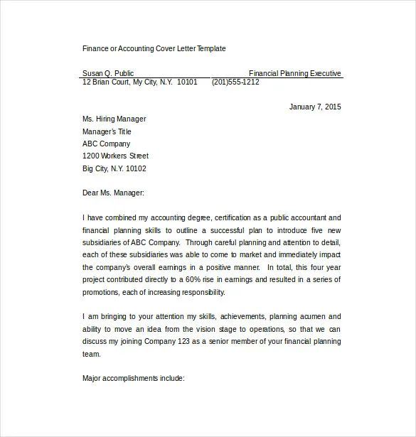 sample cover letter for accounting internship with no experience