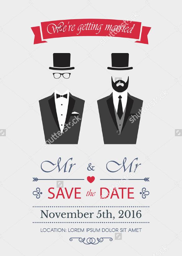 18 Gay Wedding Invitation Templates  Free Sample Example Format Download  Free  Premium