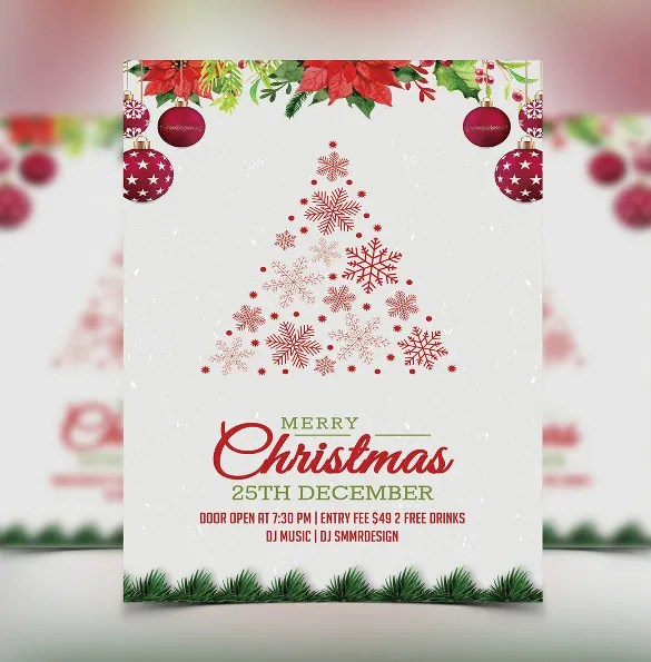 20 Christmas Invitation Templates Free Sample Example