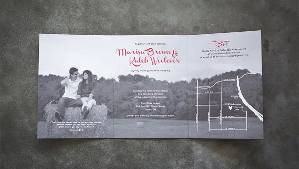 19 Trifold Wedding Invitation Templates Free Sample