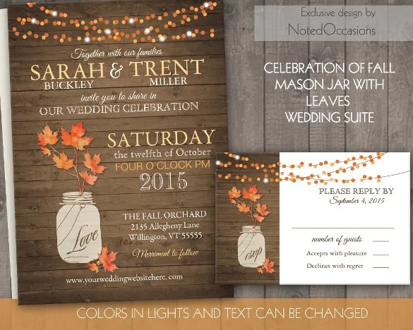 The Second Time In Your Life Tell All About New Beginning To Family And Friends Through This Rustic Fall Marriage Wedding Invitation