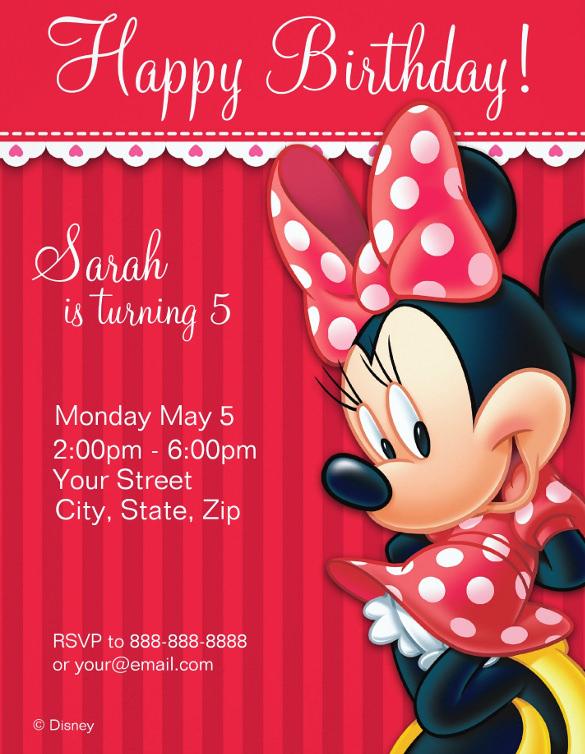 21 minnie mouse invitation templates