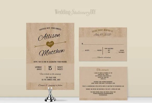 Barn Simple Wedding Invitation Wording Template