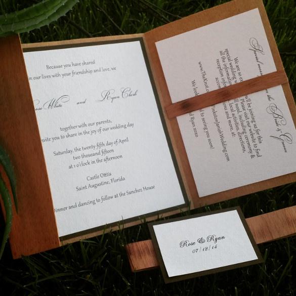 Diy Rustic Wedding Invitations As Nice Invitation Template