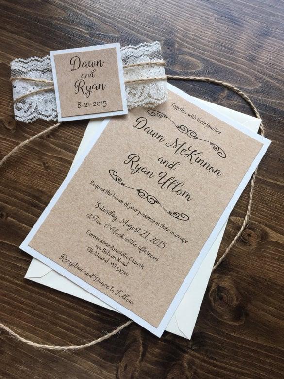 free wedding invite template