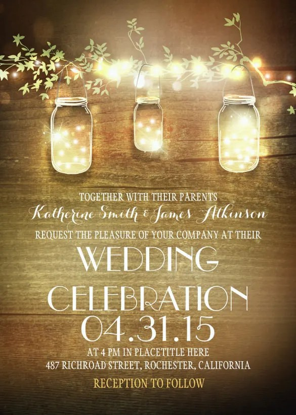 28 Rustic Wedding Invitation Design Templates PSD AI