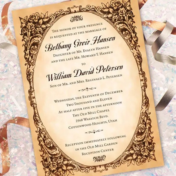31 Elegant Wedding Invitation Templates Free Sample