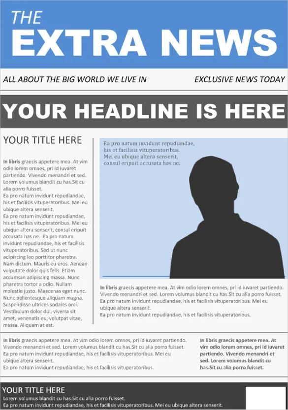 microsoft word newspaper template free download