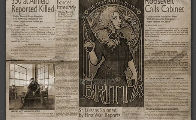 11 Vintage Newspaper Templates Free Sample Example
